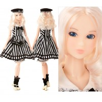 Momoko Shirley Temple 1/6 Girl 27cm Fashion Doll Marine Stripe Dress 219766