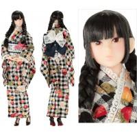 220236 Momoko 27cm Girl Cotton Modish Kimono Doll Fruity KUROMITSU ~ NEW ~
