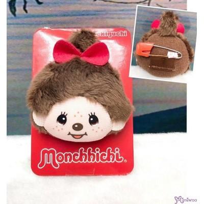 Monchhichi 4cm Mini Plush Safety Pin Brooch MCC Head Girl 毛公仔扣針 201211