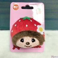 Monchhichi 5.5 x 4.5cm Face Badge - Strawberry 201464