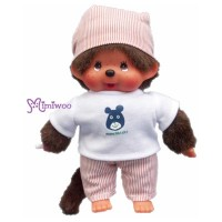 Sekiguchi Monchhichi S Size Dressed Orange Stripe Boy 222520