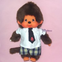 Sekiguchi Monchhichi S Size Tie Shirt Checker Pants Boy 222670