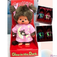 223732 Monchhichi S Size Plush Glow in the Dark Tee Star & Moon Girl