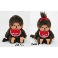 226771+226788  Monchhichi SS Size Premium Sitting Boy & Girl ~~ NEW ~~ PRE-ORDER
