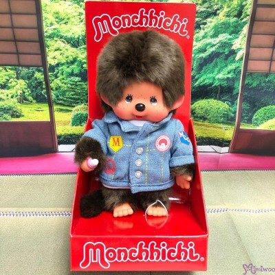 233960 Monchhichi S Size Plush EURO Denim Boy