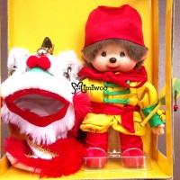 """Monchhichi Chinese New Year Lion Dance 賀年 醒獅 - 白獅 """"禮盒裝 237960"""