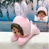 Monchhichi S Size 15cm Plush Animal Lying Bunny Rabbit 爬行 兔仔 255245 ~ NEW ARRIVAL ~