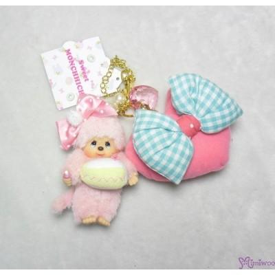 Sweet Monchhichi Mascot Keychain Candy & Cake 吊飾 連 心心 拉鍊 袋  255730+255740