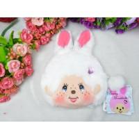 Monchhichi Bunny Pass Case + Coin Bag White 拉鍊 錢包 連 八達通 套 吊飾 255820