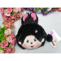 Monchhichi Bunny Pass Case + Coin Bag Black 拉鍊 錢包 連 八達通 套 吊飾 255840