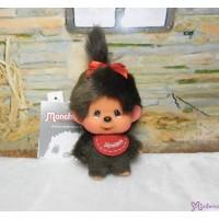 Big Head Monchhichi Mascot SS Size Keychain Red Bib Girl 大頭 吊飾 257130