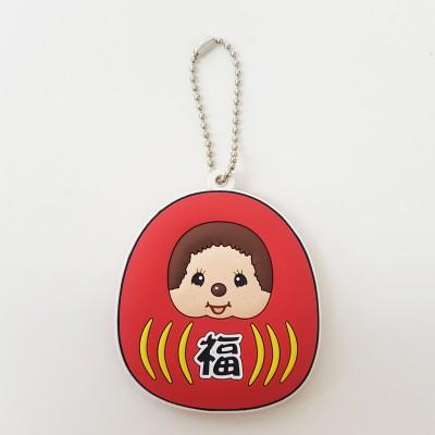 Monchhichi Soft Plastic Mascot Keychain 軟膠 鑰匙扣 - GOOD LUCK 260454