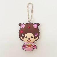 Monchhichi Soft Plastic Mascot Keychain 軟膠 鑰匙扣 - Kimono Girl 260478