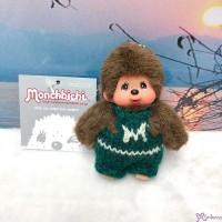 Monchhichi Mascot 9cm Green Overall Knit Pants Boy  266710