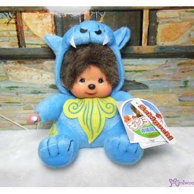 Monchhichi Okinawa Limited Plush Shisa Blue 沖繩 限定 守護神 獅子 282230