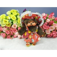 Monchhichi SS Size Plush 15cm Mascot Keychain - Streetway Sun Dress Girl 吊飾 29299