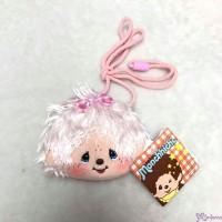 Monchhichi Mokomoko 11 x 9cm Plush Coin Bag PINK with Zipper & Strap 錢包 293670