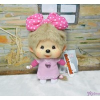 Monchhichi Big Head Mascot Keychain Butterfly Bow Girl 大頭 蝴蝶結 女孩 293900