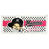 337164 Sport Monchhichi 日本製 全綿 大毛巾 34 x 82cm Large Towel Pink Manines Baseball ~ Made in Japan ~