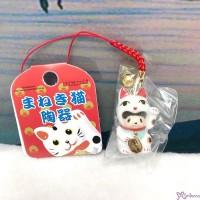 Monchhichi Mascot Ceramics Lucky Cat 陶瓷 招財貓 鈴鈴 吊飾 WHITE 499040