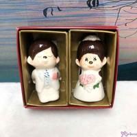 Monchhichi Ceramics Western Wedding Figure 7cm 陶瓷 結婚公仔 (PAIR) 499052