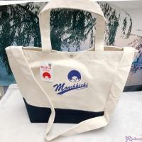 Sport Monchhichi 32 x 33 x 16cm  100% Cotton 2 Way Large Bag Blue 全棉 布袋 700168