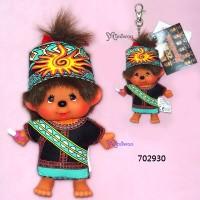 Monchhichi SS 大頭 台灣民族 吊飾 Big Head Mascot Tribe Paiwan 702930