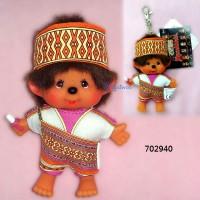 Monchhichi SS 大頭 台灣民族 吊飾 Big Head Mascot Tribe Atayal Boy 702940