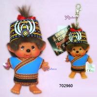 Monchhichi SS 大頭 台灣民族 吊飾 Big Head Mascot Tribe Bunun 702960