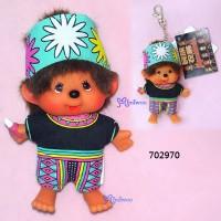 Monchhichi SS 大頭 台灣民族 吊飾 Big Head Mascot Tribe Puyuma 702970
