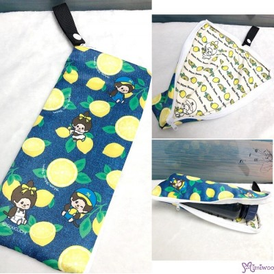 734091 Mon Mon Farm Lemon Monchhichi Folded Umbrella Bag 縮骨遮袋