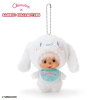 Cinnamoroll x Monchhichi 15cm Plush Mascot 7600