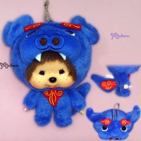 Monchhichi Big Head Mascot Shisa Blue 沖繩 守護神 獅子 吊飾 780290