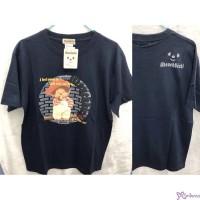Monchhichi 100% Cotton Fashion Adult Tee Navy M Size 824M-C