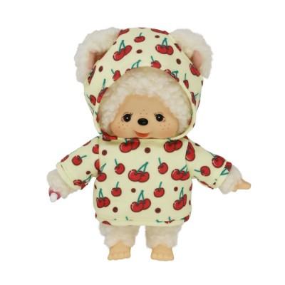 839452 Monchhichi Friend I Love Hoodie Chamu Sheep Cherry  (Japan Limited) ~~ PRE-ORDER ~~