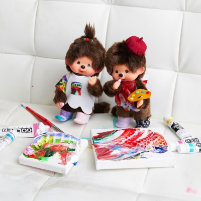 865093 Yohei Sugita x Monchhichi S Size White and Red ~ Japan Limited ~ LAST ONE ~