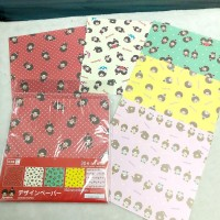 933703 Monchhichi Hand Craft Paper 15 x 15 cm (30pcs) 手工紙 ~ JAPAN Limited ~ Made in Japan