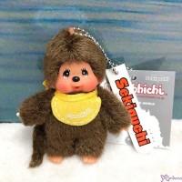 Monchhichi Mascot Keychain 8cm Ball Chain - Yellow Bib Boy EX266707