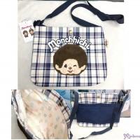 Monchhichi Blue & White Checker Shoulder Bag 30 x 23 x 3cm Handbag MB42861