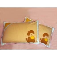 Monchhichi Pillow Case 純棉 印花枕袋 枕頭袋 (2pcs) PSC002BRN