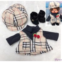 MCC S Size Fashion Outfit Checker Hat & Dress + Buckle Boots RT-42