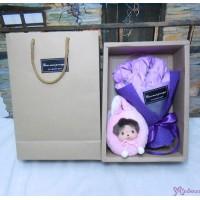Bebichhichi Daruma Bear 達摩 熊 + Soap Flower Rose Gift Box Set