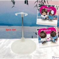 "Monchhichi SS Size & Bebichhichi S Size Plastic Base Doll Stand Holder 企架 ""5 Sets"" TAX005 x 5"