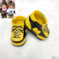 Monchhichi S Size Doll Shoes Sneaker Black & Brown 正版 運動鞋仔 XA57-B