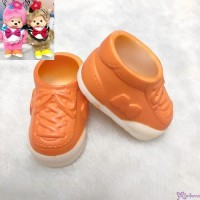 Monchhichi S Size Doll Shoes Sneaker Orange 正版 運動鞋仔 XA57-C