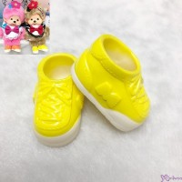 Monchhichi S Size Doll Shoes Sneaker Yellow 正版 運動鞋仔 XA57-D