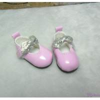 S Size MCC Doll Shoes Glitter Butterfly Bow Pink YK08PNK