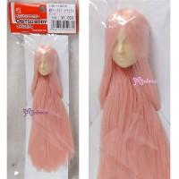 27HD-F01WC16 Obitsu 24-27cm Female Doll Head 01 Long Pink Hair Wig White Skin