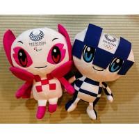 800511+800528 Tokyo Olympics 2020 Mascot L Size 40cm Plush - Miraitowa & Someity