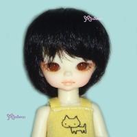 "WM21-BOB-BK Hujoo Baby Suve 4-5"" Heat Resistant Bob Wig Black"